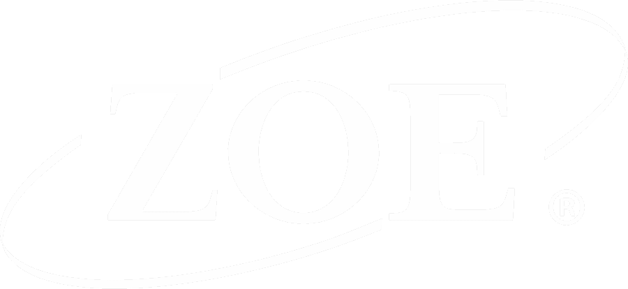 ZOE International logo white