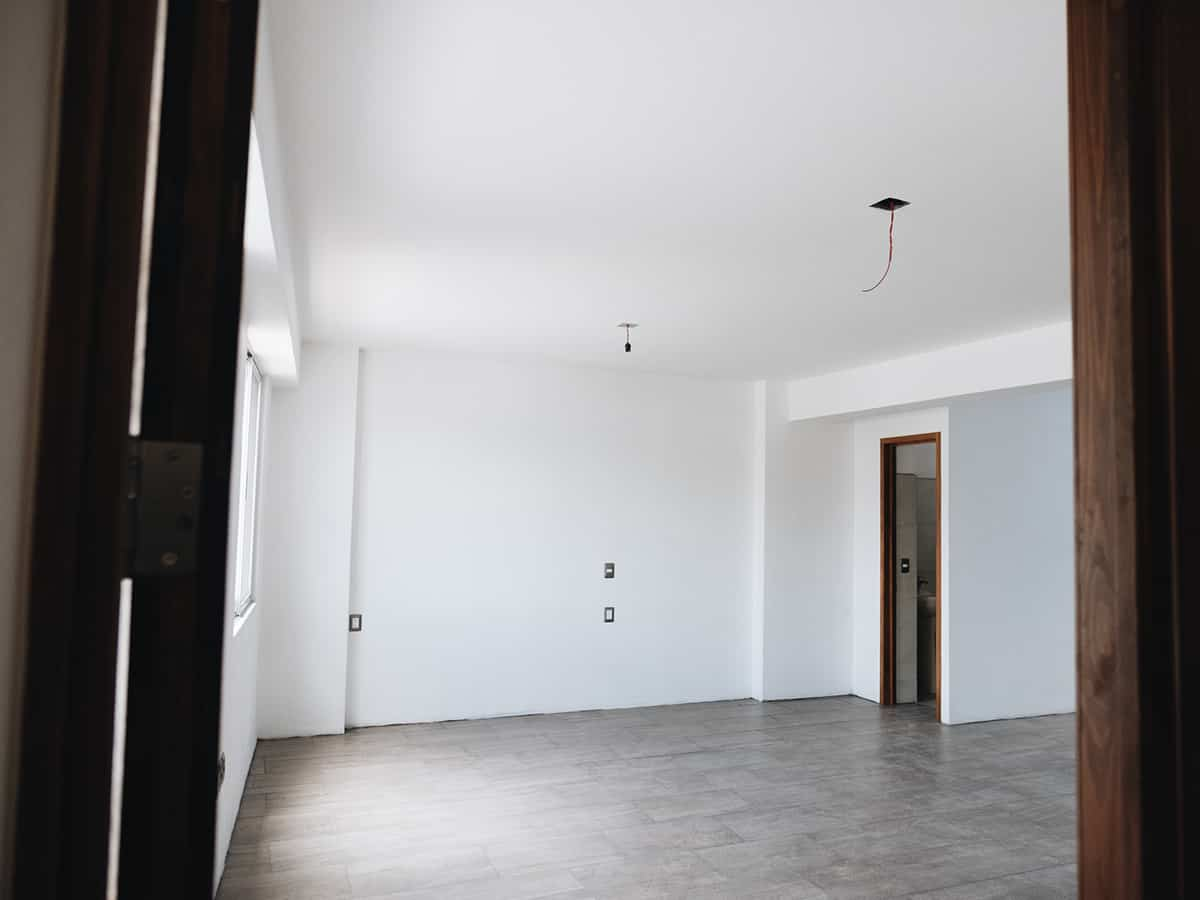 interior of a building in Mexico with white walls