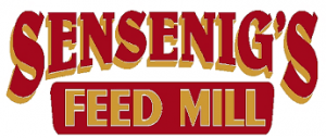 sensing's feed mill with big red letters