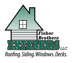 Fisher brother logo with green house