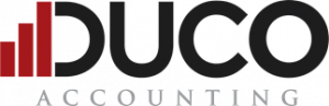 Duco logo with red graph
